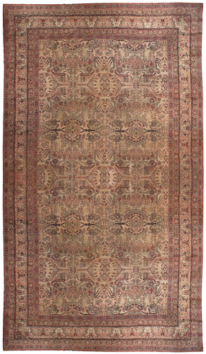 a105 - Antique Kerman LavarRug (11'6'' x 19'8'') | OAKRugs by Chelsea affordable wool rugs, handmade wool area rugs, wool and silk rugs contemporary