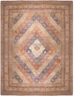a112 - Antique Bakhtiari Rug (18' x 24') | OAKRugs by Chelsea affordable wool rugs, handmade wool area rugs, wool and silk rugs contemporary