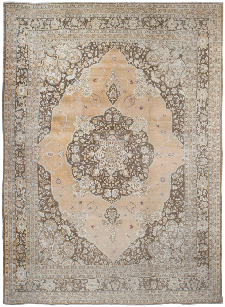 a118 - Antique Tabriz Hajalili Rug, Circa 1890 (9' x 12') | OAKRugs by Chelsea affordable wool rugs, handmade wool area rugs, wool and silk rugs contemporary