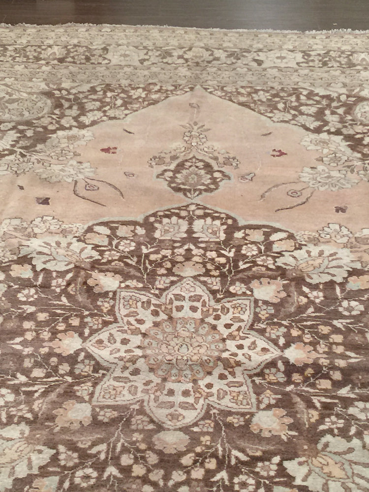 a118 - Antique Tabriz Hajalili Rug, Circa 1890 (9' x 12') | OAKRugs by Chelsea high end wool rugs, hand knotted wool area rugs, quality wool rugs