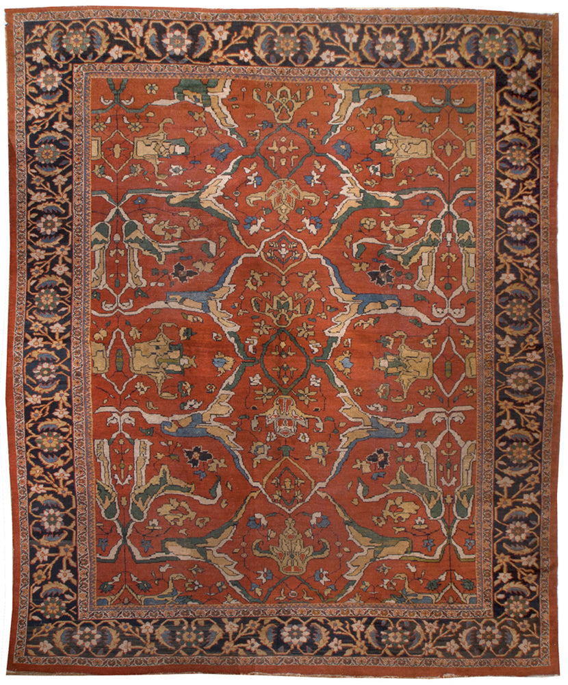 a121 - Antique Zeigler Rug (11'6'' x 13'8'') | OAKRugs by Chelsea affordable wool rugs, handmade wool area rugs, wool and silk rugs contemporary