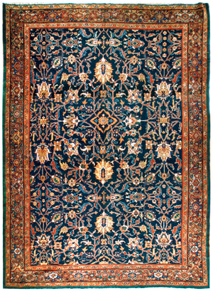 a125 - Antique Mahal Rug (10' x 13'10'') | OAKRugs by Chelsea affordable wool rugs, handmade wool area rugs, wool and silk rugs contemporary