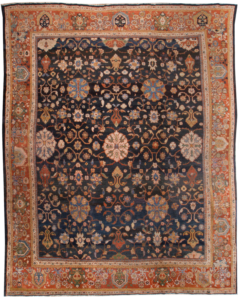 a129 - Antique Zeigler Rug (11'4'' x 13'7'') | OAKRugs by Chelsea affordable wool rugs, handmade wool area rugs, wool and silk rugs contemporary