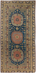 a12 - Antique Samarkand Rug (6'8'' x 13'5'') | OAKRugs by Chelsea inexpensive wool rugs, unique wool rugs, wool rug vintage