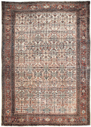 a136 - Antique Ferehan Rug (10'2'' x 13'9'') | OAKRugs by Chelsea affordable wool rugs, handmade wool area rugs, wool and silk rugs contemporary