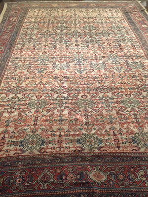a136 - Antique Ferehan Rug (10'2'' x 13'9'') | OAKRugs by Chelsea wool bohemian rugs, good quality wool rugs, vintage wool braided rug