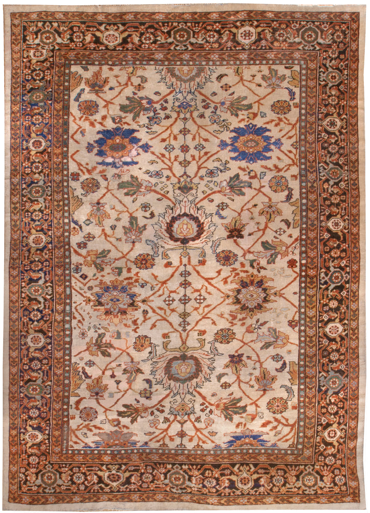 a137 - Antique Zeigler Rug (9' x 12') | OAKRugs by Chelsea affordable wool rugs, handmade wool area rugs, wool and silk rugs contemporary