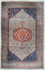 a145 - Antique Bidjar MedallionRug (11' x 17'9'') | OAKRugs by Chelsea affordable wool rugs, handmade wool area rugs, wool and silk rugs contemporary