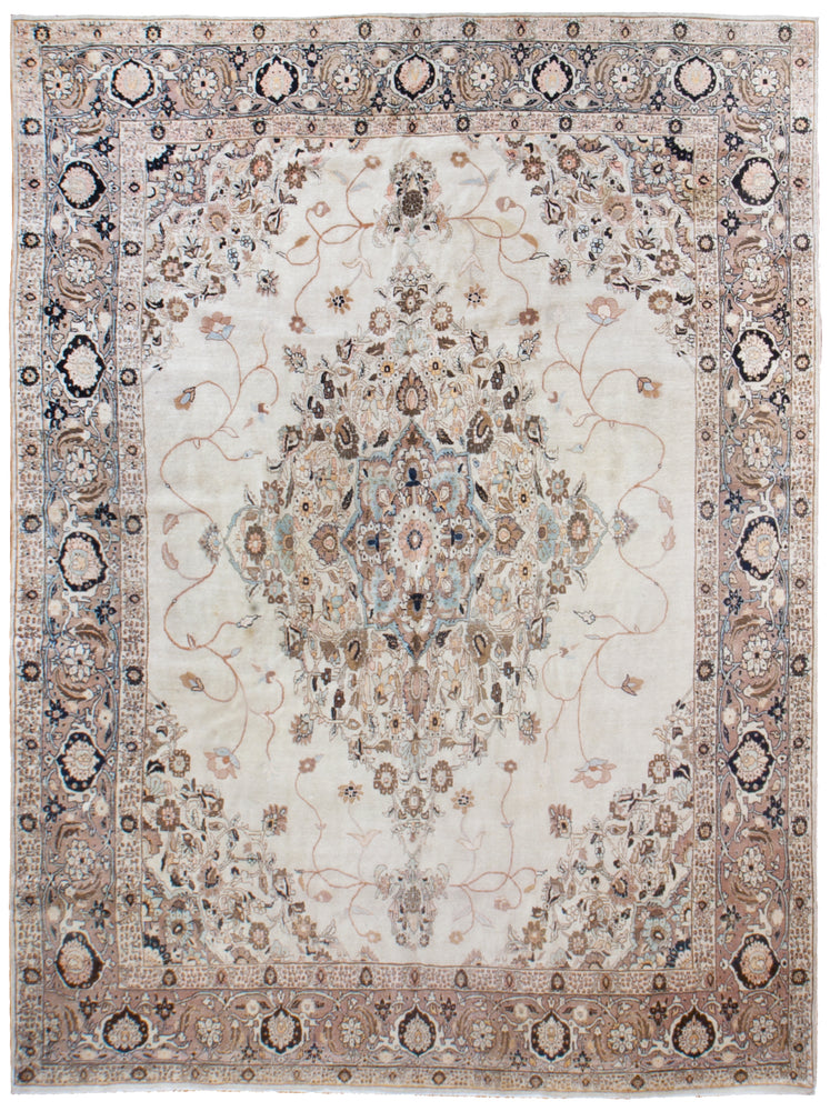 a1460 - Antique Tabriz Hajalili Rug, Circa 1890 (9' x 12') | OAKRugs by Chelsea affordable wool rugs, handmade wool area rugs, wool and silk rugs contemporary