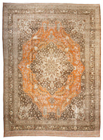 a146 - Antique Tabriz HajaliliRug (9'4'' x 12'8'') | OAKRugs by Chelsea affordable wool rugs, handmade wool area rugs, wool and silk rugs contemporary