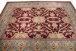 a150 - Antique Agra Rug (12'6'' x 15'7'') | OAKRugs by Chelsea high end wool rugs, hand knotted wool area rugs, quality wool rugs