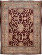 a150 - Antique Agra Rug (12'6'' x 15'7'') | OAKRugs by Chelsea affordable wool rugs, handmade wool area rugs, wool and silk rugs contemporary
