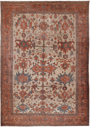 a158 - Antique Serapi Rug (9'10'' x 12'5'') | OAKRugs by Chelsea affordable wool rugs, handmade wool area rugs, wool and silk rugs contemporary