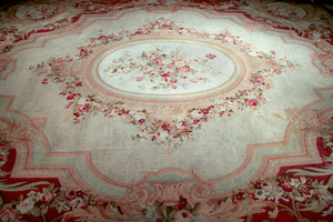 a169 - Antique Aubusson Rug (18'5'' x 21'9'') | OAKRugs by Chelsea antique wall rugs, handmade antique art rugs, European antique rugs