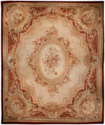 a169 - Antique Aubusson Rug (18'5'' x 21'9'') | OAKRugs by Chelsea 100 percent wool area rugs, vintage braided rugs for sale, antique tapestry rugs