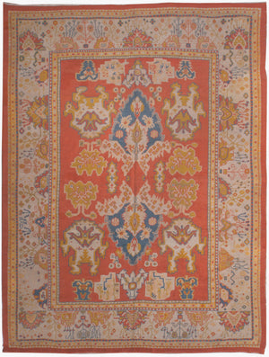 a184 - Antique Oushak Rug (9'5'' x 12'6'') | OAKRugs by Chelsea affordable wool rugs, handmade wool area rugs, wool and silk rugs contemporary