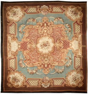 Antique Aubusson  Rug, Circa 1860, 15' x 15'  (a192)