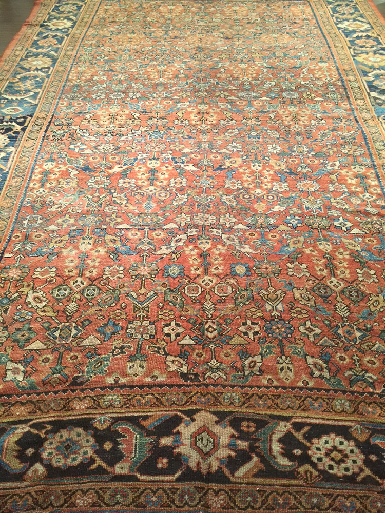 a206 - Antique Ferehan Rug (9'6'' x 14'3'') | OAKRugs by Chelsea wool bohemian rugs, good quality wool rugs, vintage wool braided rug