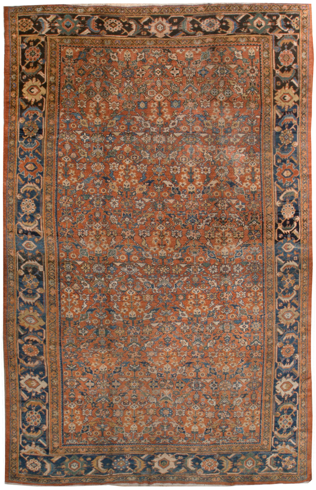 a206 - Antique Ferehan Rug (9'6'' x 14'3'') | OAKRugs by Chelsea affordable wool rugs, handmade wool area rugs, wool and silk rugs contemporary