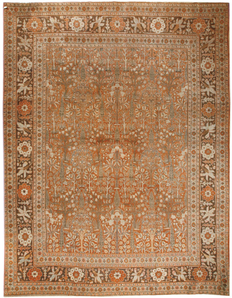a221 - Antique Tabriz Rug (9' x 12') | OAKRugs by Chelsea affordable wool rugs, handmade wool area rugs, wool and silk rugs contemporary