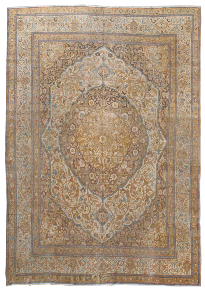 a226 - Antique Tabriz HajaliliRug (9'2'' x 12'5'') | OAKRugs by Chelsea affordable wool rugs, handmade wool area rugs, wool and silk rugs contemporary