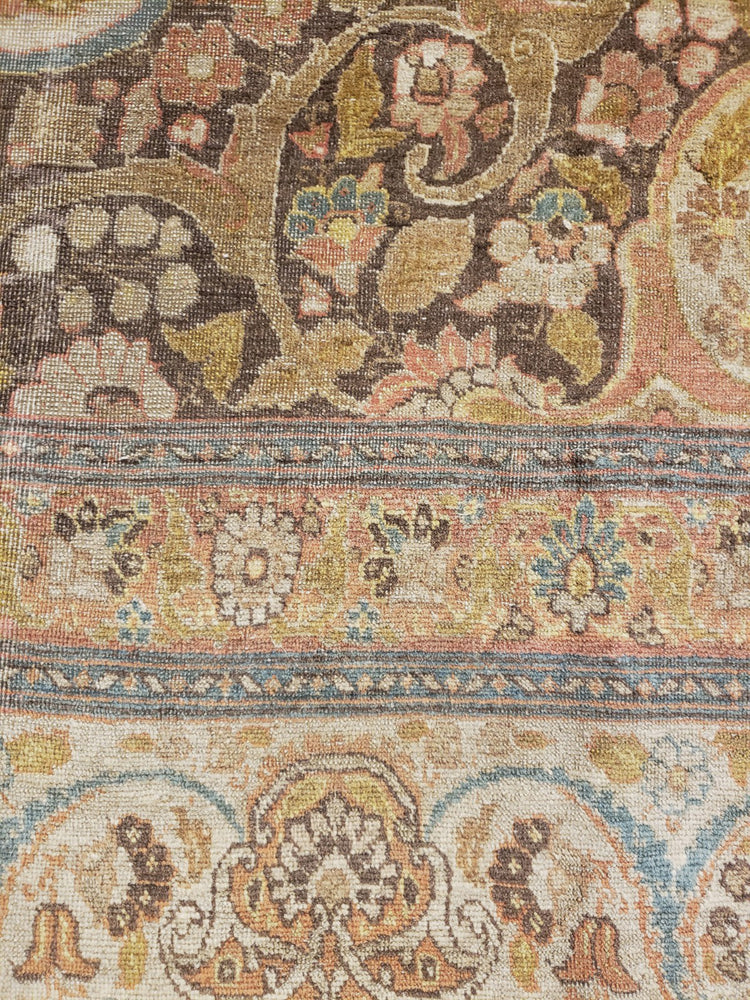 a226 - Antique Tabriz HajaliliRug (9'2'' x 12'5'') | OAKRugs by Chelsea wool bohemian rugs, good quality wool rugs, vintage wool braided rug
