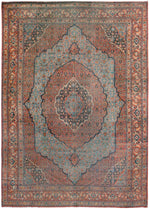 a241 - Antique Tabriz Rug (8'5'' x 11'9'') | OAKRugs by Chelsea affordable wool rugs, handmade wool area rugs, wool and silk rugs contemporary