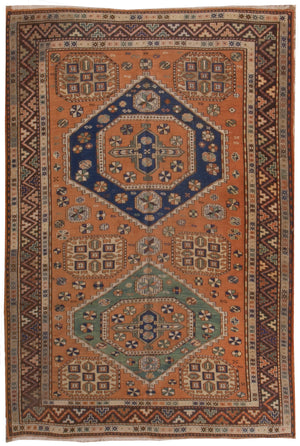 a41 - Antique Soumak Rug (4'10'' x 6'10'') | OAKRugs by Chelsea inexpensive wool rugs, unique wool rugs, wool rug vintage