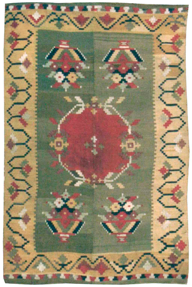 a428 - Antique Besserebian Rug (4'2'' x 6'5'') | OAKRugs by Chelsea affordable wool rugs, handmade wool area rugs, wool and silk rugs contemporary