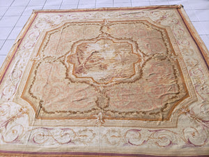 Antique Aubusson Rug, Circa 1780, 15' x 17'  (a441)