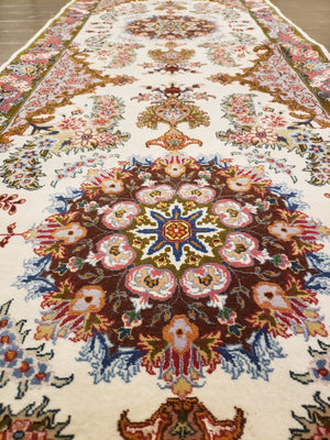 a442 - Antique Tabriz Rug (2'7'' x 13'3'') | OAKRugs by Chelsea high end wool rugs, hand knotted wool area rugs, quality wool rugs