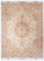 a443 - Antique Tabriz Rug (6' x 9') | OAKRugs by Chelsea affordable wool rugs, handmade wool area rugs, wool and silk rugs contemporary