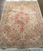 a443 - Antique Tabriz Rug (6' x 9') | OAKRugs by Chelsea high end wool rugs, hand knotted wool area rugs, quality wool rugs