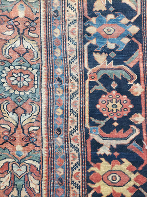 a445 - Antique Mahal Rug (12' x 21') | OAKRugs by Chelsea high end wool rugs, hand knotted wool area rugs, quality wool rugs