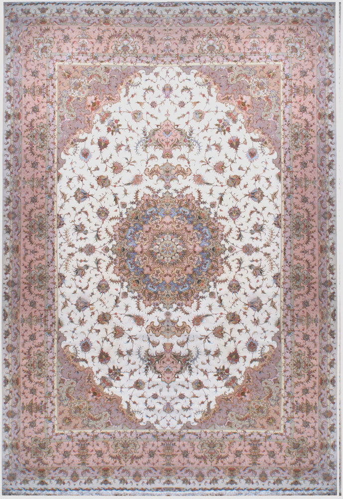 a446 - Vintage Tabriz Rug (11'4'' x 16'8'') | OAKRugs by Chelsea affordable wool rugs, handmade wool area rugs, wool and silk rugs contemporary
