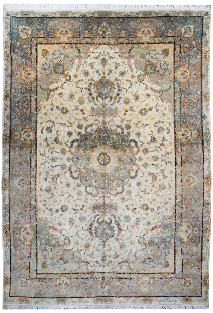 a448 - Vintage Tabriz Rug, Circa 1950 (8' x 11') | OAKRugs by Chelsea affordable wool rugs, handmade wool area rugs, wool and silk rugs contemporary