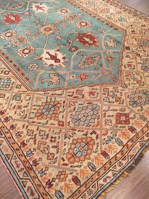 a44 - Antique Oushak Rug (9' x 12')