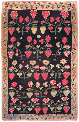 a53 - Antique Besserebian Rug (4' x 6') | OAKRugs by Chelsea affordable wool rugs, handmade wool area rugs, wool and silk rugs contemporary