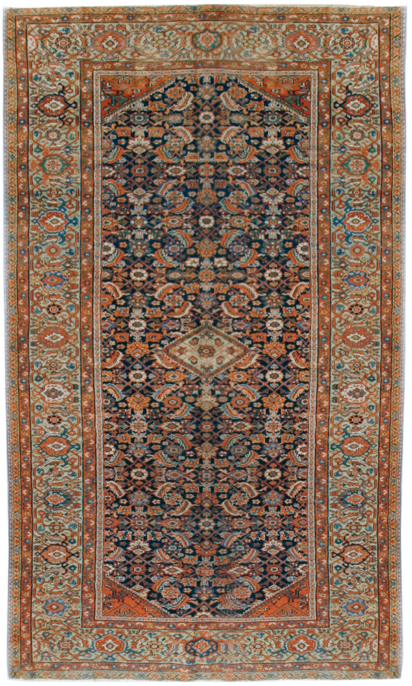 a80 - Antique Ferehan HaratiRug (5' x 9'10'') | OAKRugs by Chelsea affordable wool rugs, handmade wool area rugs, wool and silk rugs contemporary