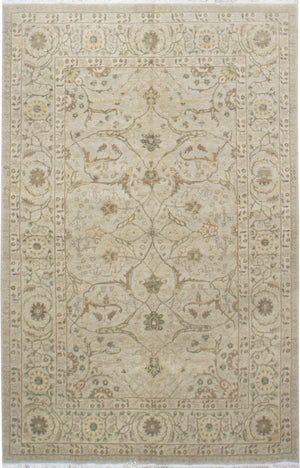 ik1019 - Classic Tabriz Rug (Wool) - 6' x 9' | OAKRugs by Chelsea affordable wool rugs, handmade wool area rugs, wool and silk rugs contemporary