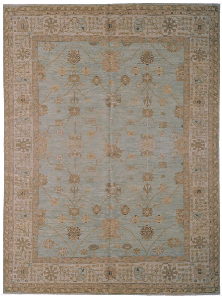 ik1226 - Transitional Tabriz Rug (Wool) - 10' x 14' | OAKRugs by Chelsea affordable wool rugs, handmade wool area rugs, wool and silk rugs contemporary