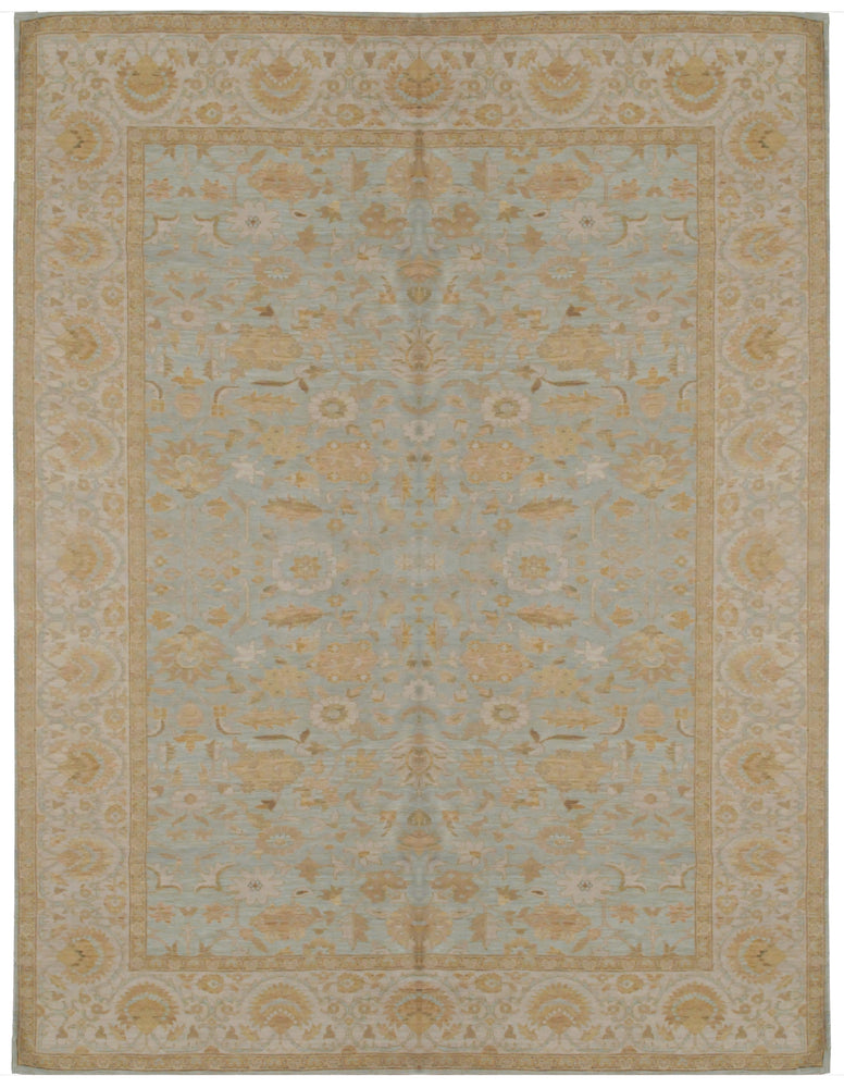 ik1238 - Classic Khotan Rug (Wool) - 10' x 14' | OAKRugs by Chelsea high end wool rugs, hand knotted wool area rugs, quality wool rugs