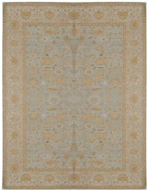 ik1238 - Classic Khotan Rug (Wool) - 10' x 14' | OAKRugs by Chelsea affordable wool rugs, handmade wool area rugs, wool and silk rugs contemporary