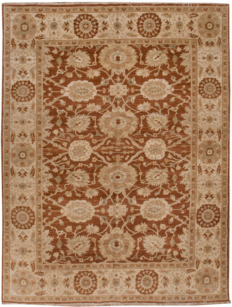 ik2006 - Classic Zeigler Rug (Wool) - 6' x 9' | OAKRugs by Chelsea affordable wool rugs, handmade wool area rugs, wool and silk rugs contemporary