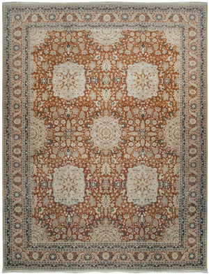 ik2023 - Classic Tabriz Rug (wool) - 10' x 14' | OAKRugs by Chelsea high end wool rugs, hand knotted wool area rugs, quality wool rugs
