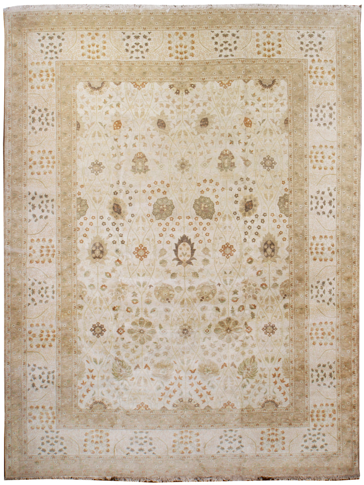 ik2074 - Classic Tabriz Rug (Wool) - 12' x 15' | OAKRugs by Chelsea affordable wool rugs, handmade wool area rugs, wool and silk rugs contemporary