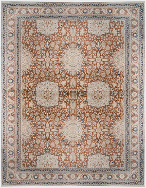 ik2126 - Oriental Tabriz Rug (Wool) - 10' x 14' | OAKRugs by Chelsea affordable wool rugs, handmade wool area rugs, wool and silk rugs contemporary