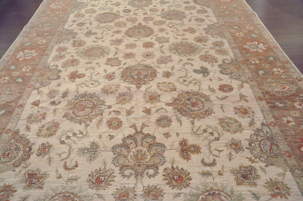 ik2171 - Classic Zeigler Rug (Wool) - 9' x 12' | OAKRugs by Chelsea wool bohemian rugs, good quality wool rugs, vintage wool braided rug