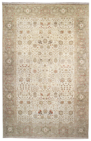ik2235 - Classic Tabriz Rug (Wool) - 12' x 18' | OAKRugs by Chelsea affordable wool rugs, handmade wool area rugs, wool and silk rugs contemporary