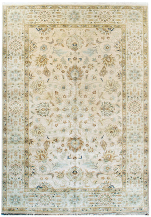 ik2323 - Classic Tabriz Rug (Wool) - 6' x 9' | OAKRugs by Chelsea affordable wool rugs, handmade wool area rugs, wool and silk rugs contemporary